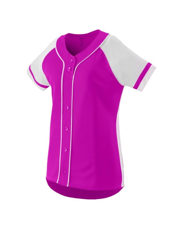 1666 Augusta Sportswear Power Pink/ White