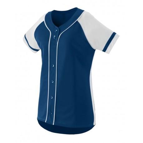 1666 Augusta Sportswear 1666 Girls' Winner Jersey NAVY/ WHITE