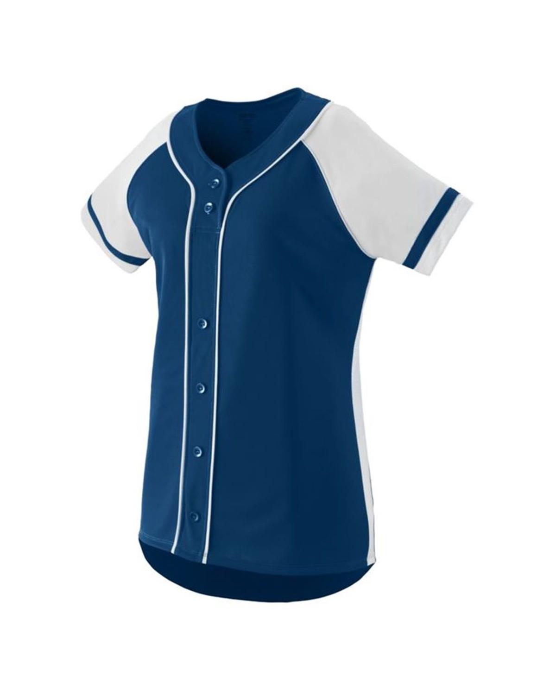 1666 Augusta Sportswear NAVY/ WHITE
