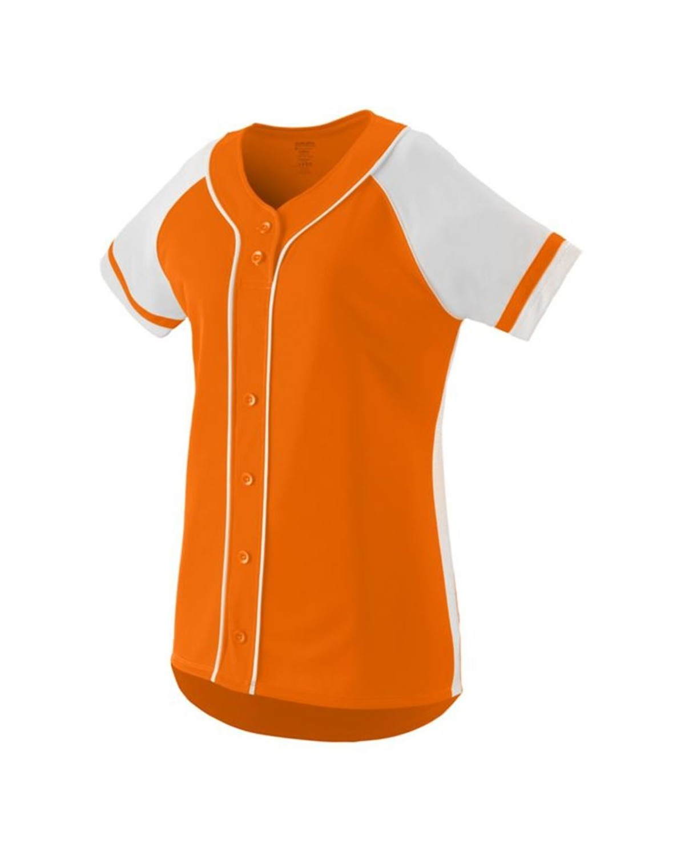 1666 Augusta Sportswear Power Orange/ White