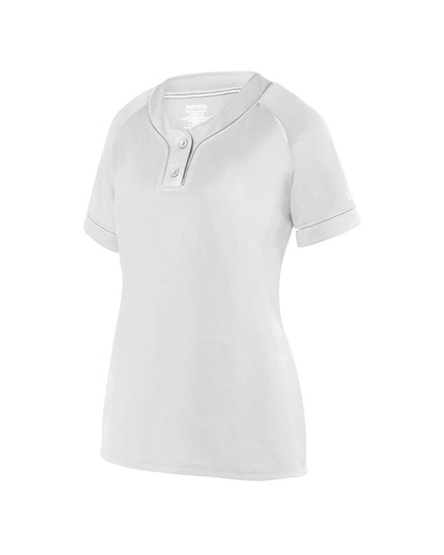 1671 Augusta Sportswear WHITE/ SILVER