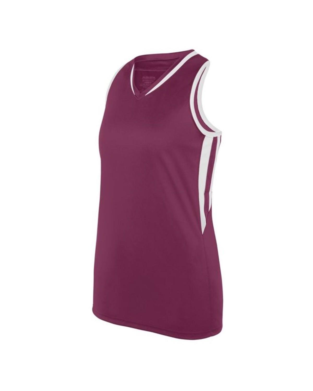 1672 Augusta Sportswear MAROON/ WHITE