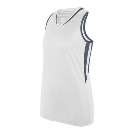 1673 Augusta Sportswear 1673 Girls' Full Force Tank WHITE/ GRAPHITE