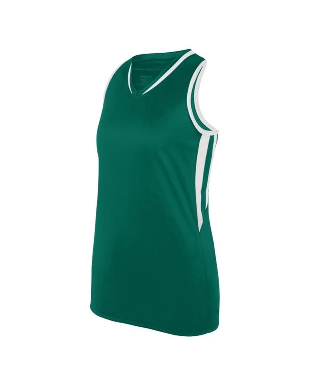1673 Augusta Sportswear Dark Green/ White