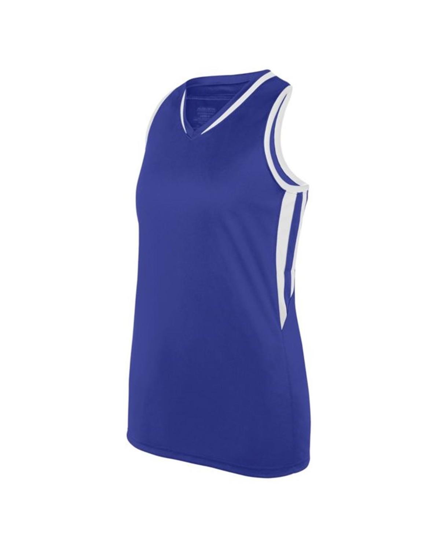 1673 Augusta Sportswear PURPLE/ WHITE