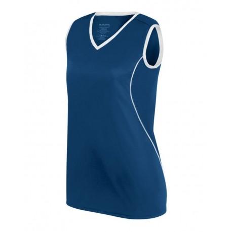 1674 Augusta Sportswear 1674 Women's Firebolt Jersey NAVY/ WHITE