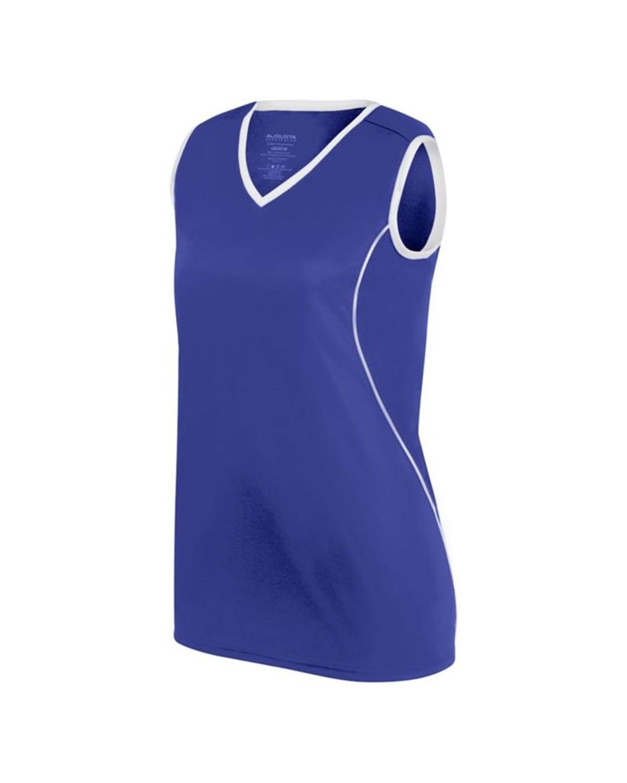 1674 Augusta Sportswear PURPLE/ WHITE