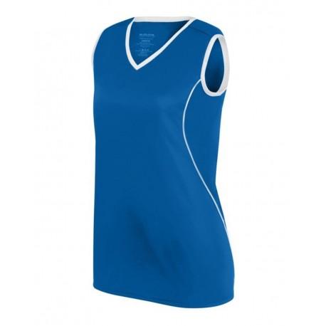 1674 Augusta Sportswear 1674 Women's Firebolt Jersey ROYAL/ WHITE