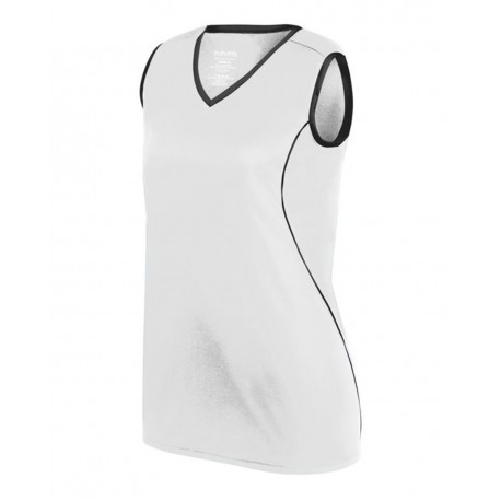 1675 Augusta Sportswear 1675 Girls' Firebolt Jersey WHITE/ BLACK