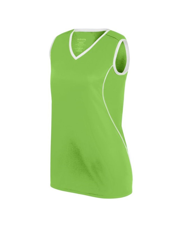 1675 Augusta Sportswear LIME/ WHITE