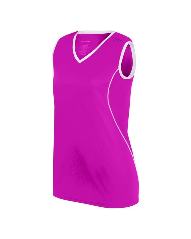 1675 Augusta Sportswear Power Pink/ White