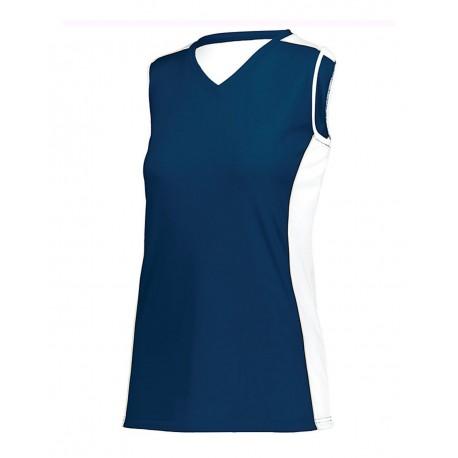 1676 Augusta Sportswear 1676 Women's Paragon Jersey Navy/ White/ Silver Grey