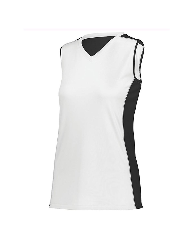 1676 Augusta Sportswear White/ Black/ White