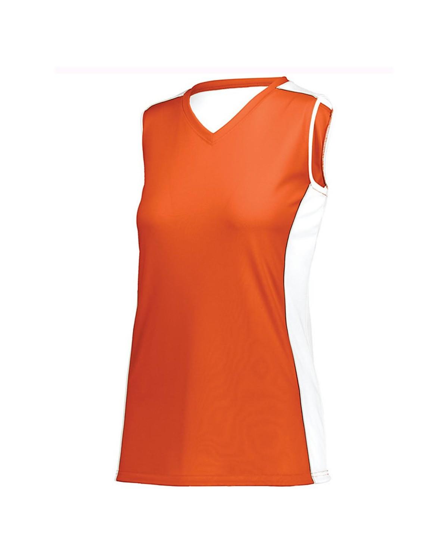 1676 Augusta Sportswear Orange/ White/ Silver Grey