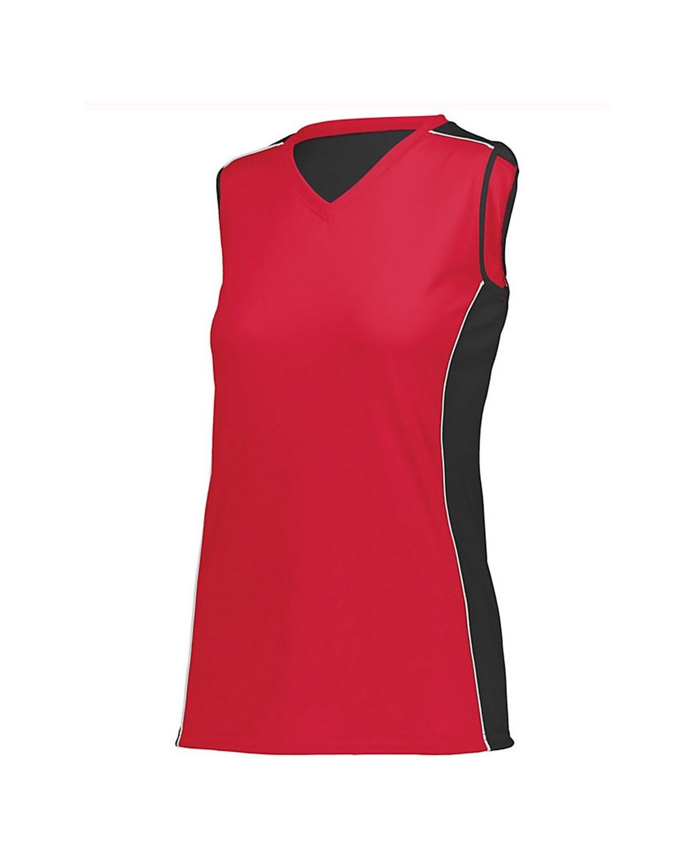 1676 Augusta Sportswear Red/ Black/ White