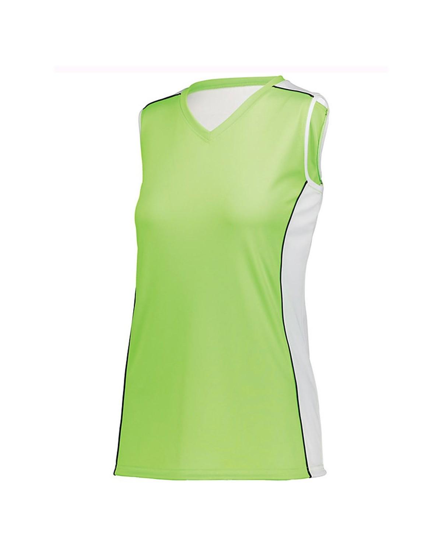 1677 Augusta Sportswear Lime/ White/ Black