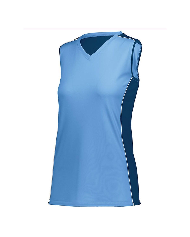 1677 Augusta Sportswear Columbia Blue/ Navy/ White