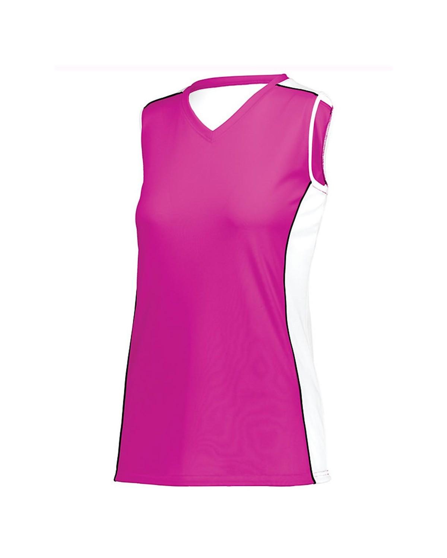 1677 Augusta Sportswear Power Pink/ White/ Black