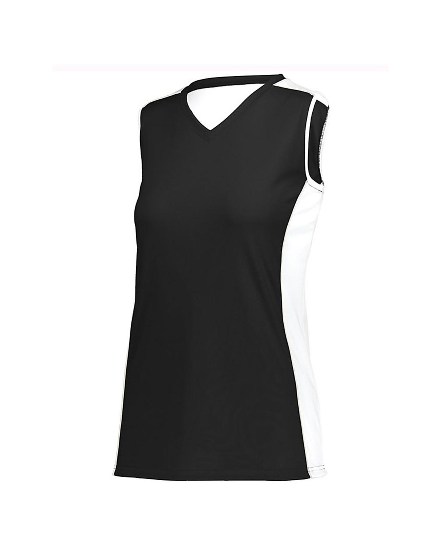 1677 Augusta Sportswear Black/ White/ Silver Grey