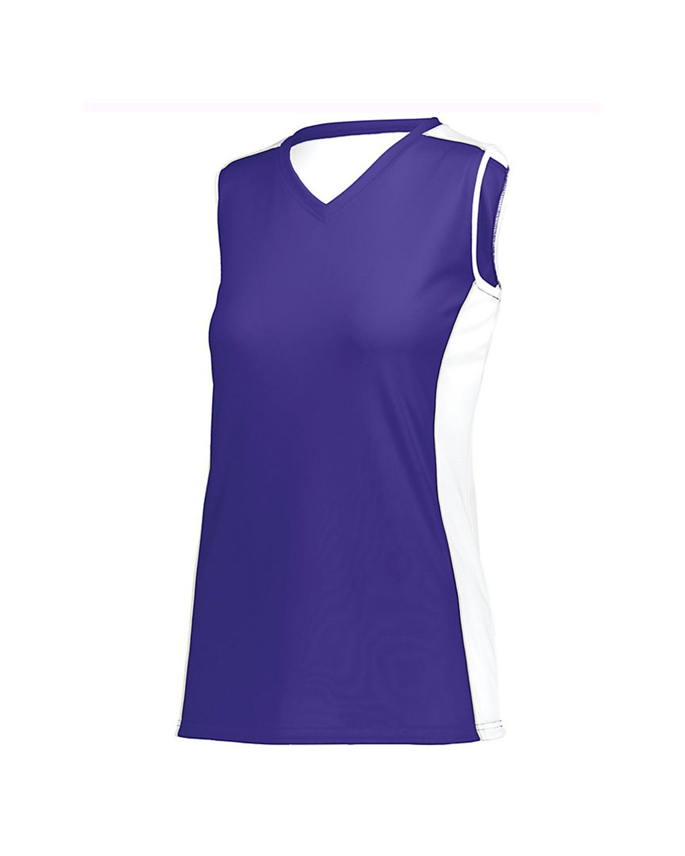 1677 Augusta Sportswear Purple/ White/ Silver Grey