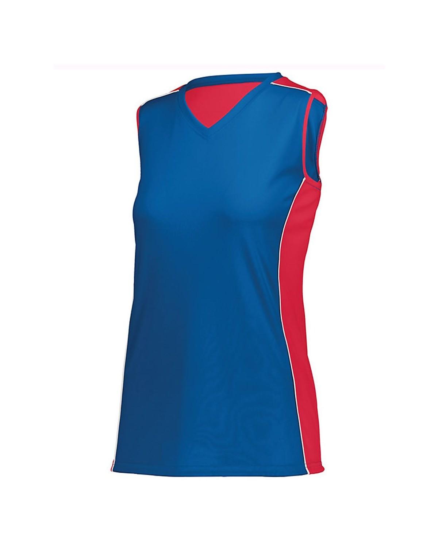 1677 Augusta Sportswear Royal/ Red/ White