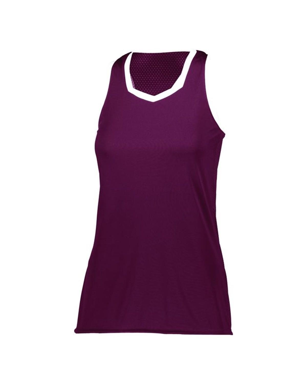 1678 Augusta Sportswear MAROON/ WHITE