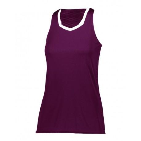 1679 Augusta Sportswear 1679 Girls' Crosse Jersey MAROON/ WHITE