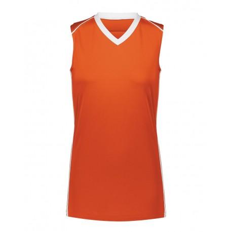 1688 Augusta Sportswear 1688 Girls' Rover Jersey ORANGE/ WHITE