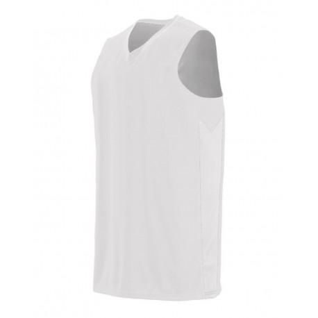 1712 Augusta Sportswear 1712 Block Out Jersey WHITE/ WHITE