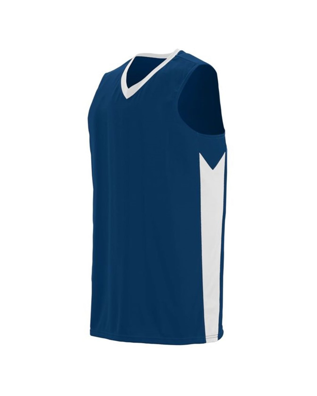 1712 Augusta Sportswear NAVY/ WHITE