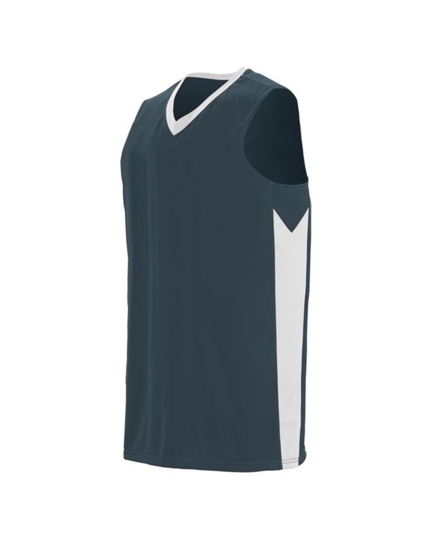 1713 Augusta Sportswear Slate/ White