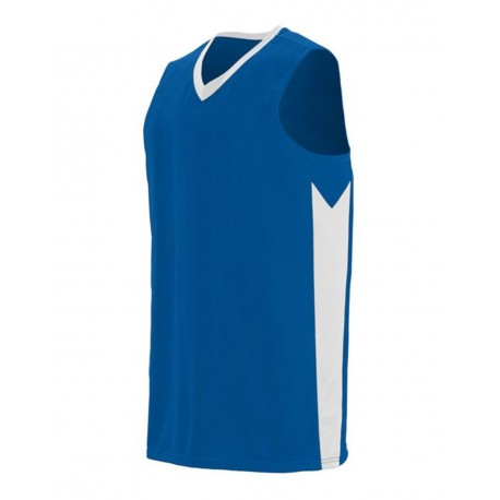 1713 Augusta Sportswear 1713 Youth Block Out Jersey ROYAL/ WHITE