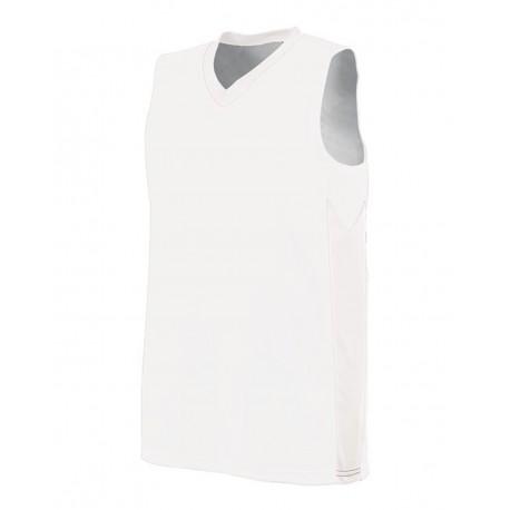 1714 Augusta Sportswear 1714 Women's Block Out Jersey WHITE/ WHITE