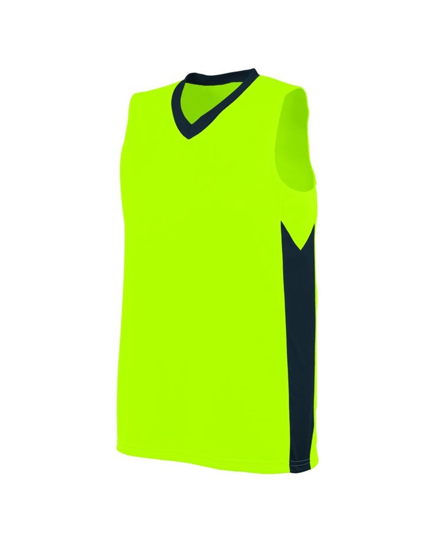 1714 Augusta Sportswear Lime/ Slate