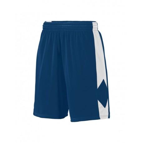 1715 Augusta Sportswear 1715 Block Out Shorts NAVY/ WHITE