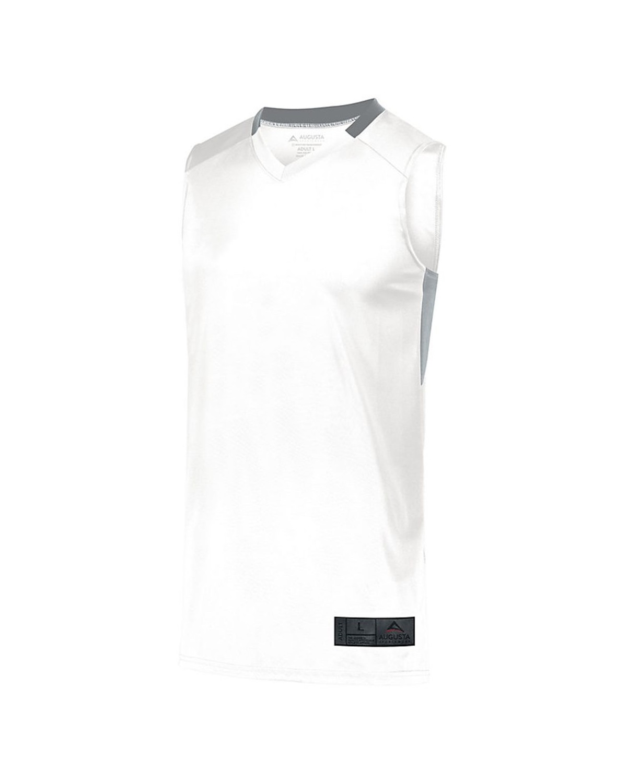 1730 Augusta Sportswear WHITE/ SILVER