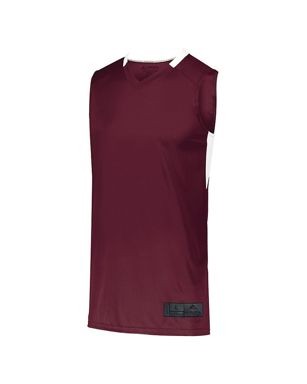 1730 Augusta Sportswear MAROON/ WHITE