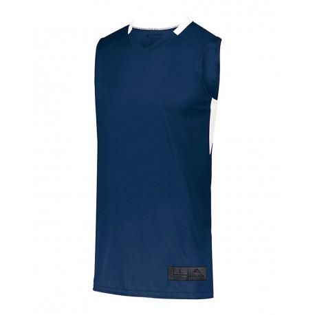 1730 Augusta Sportswear 1730 Step-Back Basketball Jersey NAVY/ WHITE