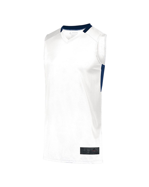 1730 Augusta Sportswear WHITE/ NAVY