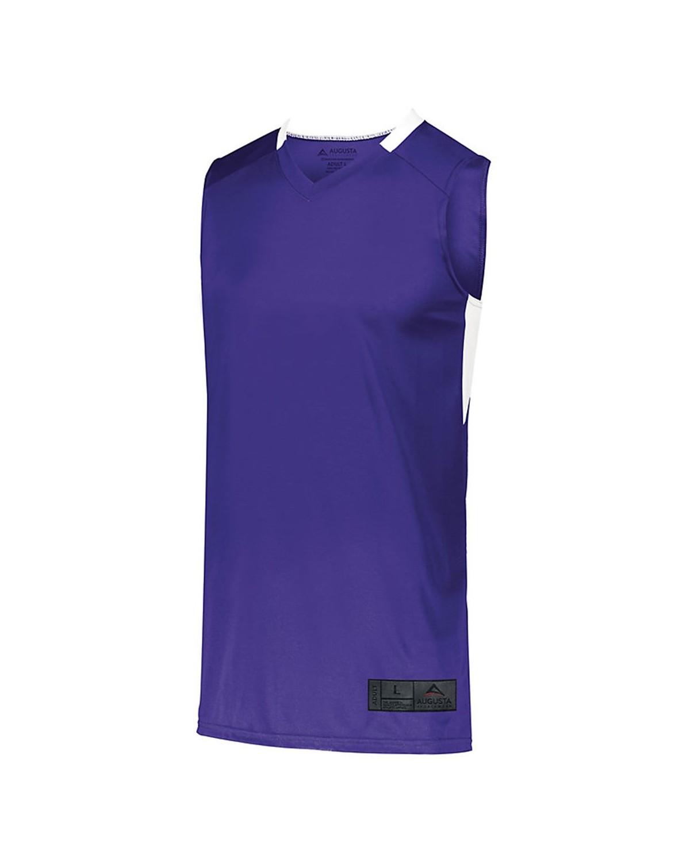 1730 Augusta Sportswear PURPLE/ WHITE