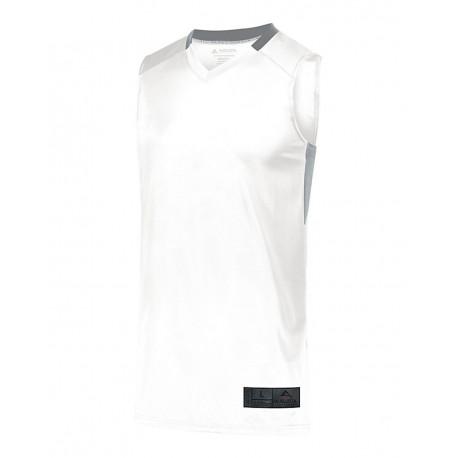 1731 Augusta Sportswear 1731 Youth Step-Back Basketball Jersey WHITE/ SILVER