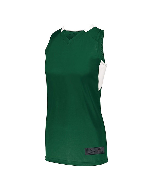 1732 Augusta Sportswear Dark Green/ White