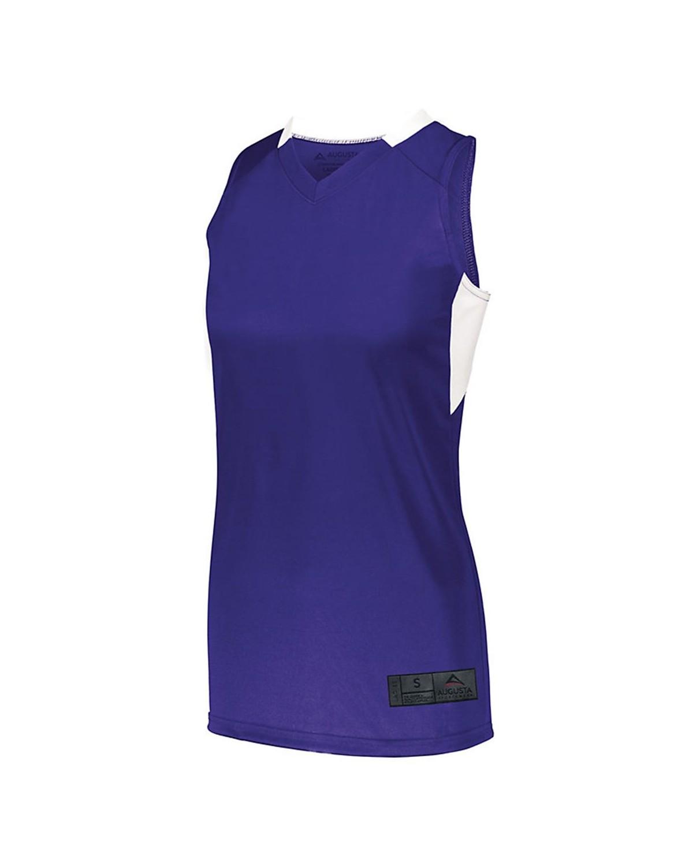1732 Augusta Sportswear PURPLE/ WHITE