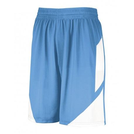 1733 Augusta Sportswear 1733 Step-Back Basketball Shorts Columbia Blue/ White
