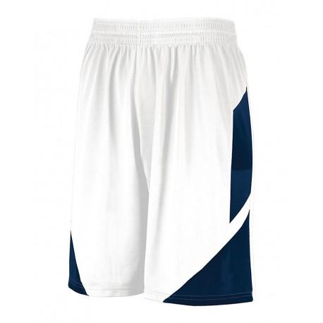1734 Augusta Sportswear 1734 Youth Step-Back Basketball Shorts WHITE/ NAVY