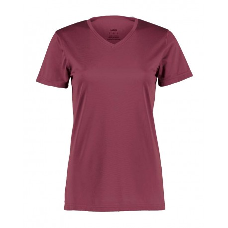 1790 Augusta Sportswear 1790 Women's Nexgen Wicking V-Neck T-Shirt MAROON