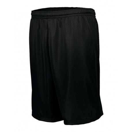 1848 Augusta Sportswear 1848 Longer Length Tricot Mesh Shorts BLACK