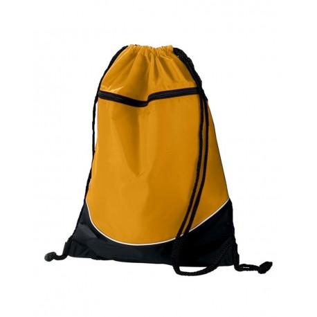 1920 Augusta Sportswear 1920 Tri-Color Drawstring Backpack Gold/ Black/ White