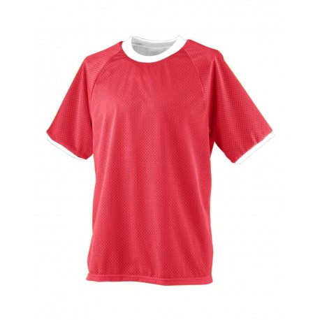 216 Augusta Sportswear 216 Youth Reversible Practice Jersey RED/ WHITE