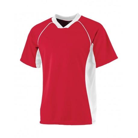 243 Augusta Sportswear 243 Wicking Soccer Shirt RED/ WHITE